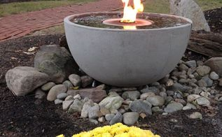 fire fountain water feature, landscape, outdoor living, ponds water features