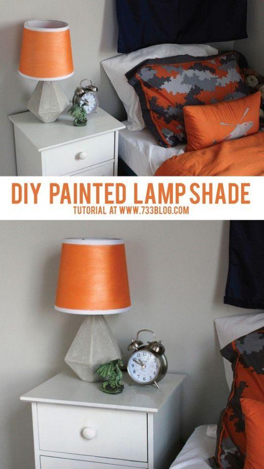Diy painted lamp shade hometalk diy painted lamp shade bedroom ideas lighting repurposing upcycling aloadofball Images