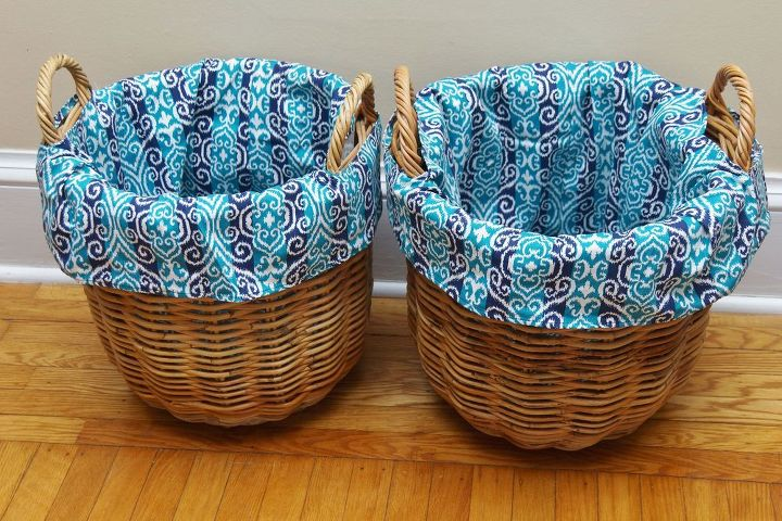 how to make diy basket liners for round baskets, crafts, how to