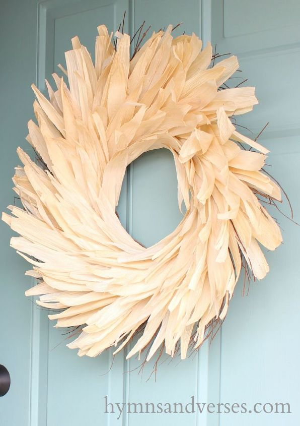 knock off anthropologie corn husk wreath, crafts, seasonal holiday decor, wreaths