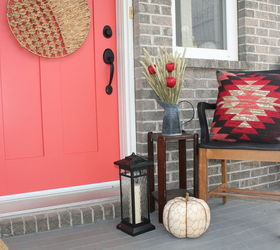 bringing fall to your front porch even with a pink door curb appeal doors & Bringing Fall to Your Front Porch Even With a Pink Door | Hometalk