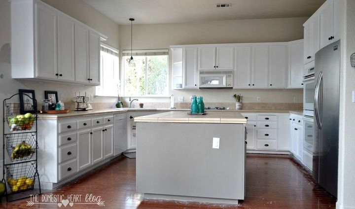DIY Painted Kitchen Cabinet Update REVEAL