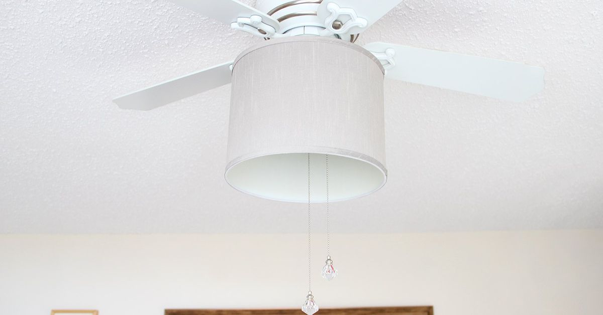 Add a Drum Shade to a Ceiling Fan! | Hometalk