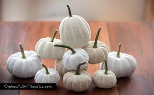 shades of white painted pumpkins, crafts, seasonal holiday decor