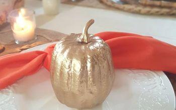 Easy to Transform Gold Pumpkins