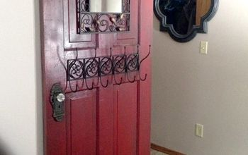 Antique Door Turned Hall Tree - Upcycle