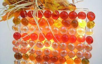 Indian Corn Inspired Glass Block Light