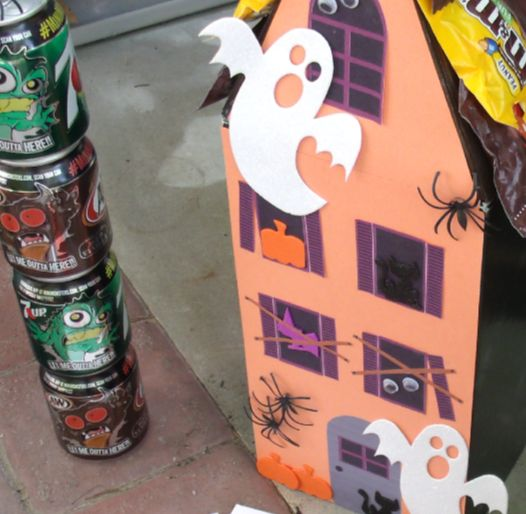 diy haunted house from a shoe box, crafts, halloween decorations, repurposing upcycling
