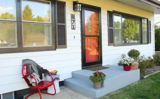 an affordable porch makeover, concrete masonry, curb appeal, diy, outdoor living, porches