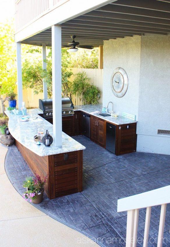 outdoor kitchen reveal, kitchen design, outdoor living