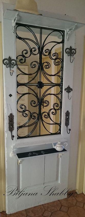 diy project old door repurposed into romantic shabby chic decor, doors, home decor, repurposing upcycling, shabby chic