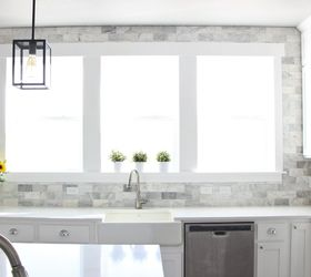 Diy Marble Backsplash In The Kitchen, Diy, Kitchen Backsplash, Kitchen  Design, Tiling