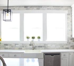 Gentil Diy Marble Backsplash In The Kitchen, Diy, Kitchen Backsplash, Kitchen  Design, Tiling