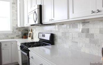 DIY Marble Backsplash in the Kitchen