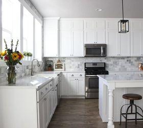 Delightful Diy Marble Backsplash In The Kitchen, Diy, Kitchen Backsplash, Kitchen  Design, Tiling
