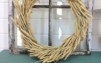 diy fall wheat wreath all you need is 3 items and 20 minutes, crafts, seasonal holiday decor, wreaths