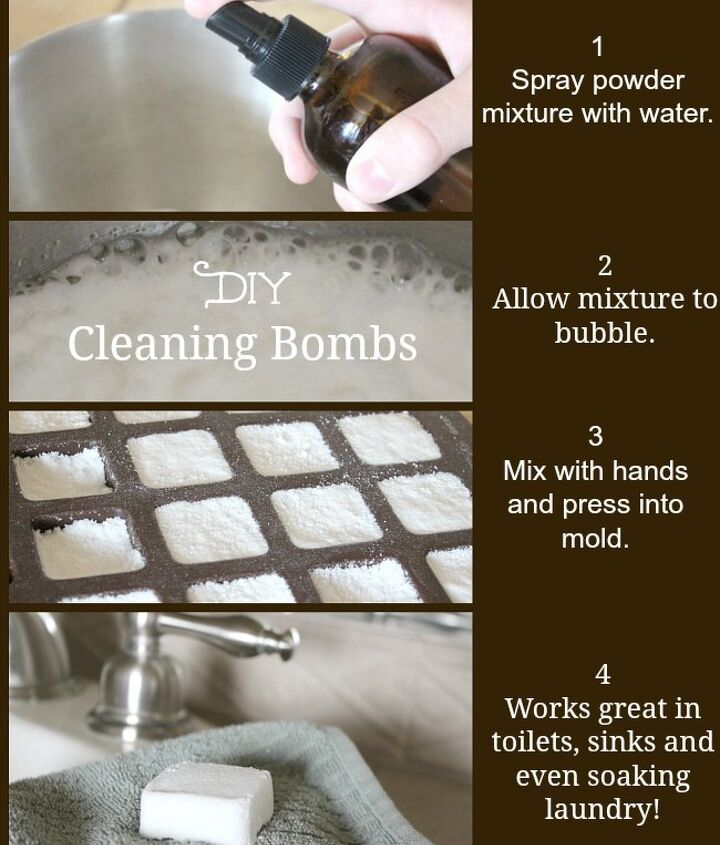 diy toilet cleaner bombs, bathroom ideas, cleaning tips