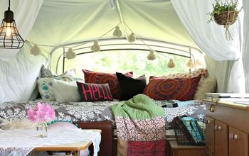 Boho Inspired Pop-Up Camper Re-do