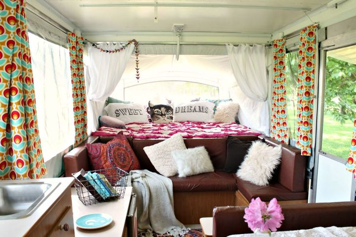 boho inspired pop up camper re do  home decor  outdoor living. Boho Inspired Pop Up Camper Re do   Hometalk