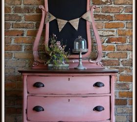 Antique Chest In Scandinavian Pink, Painted Furniture, Repurposing Upcycling