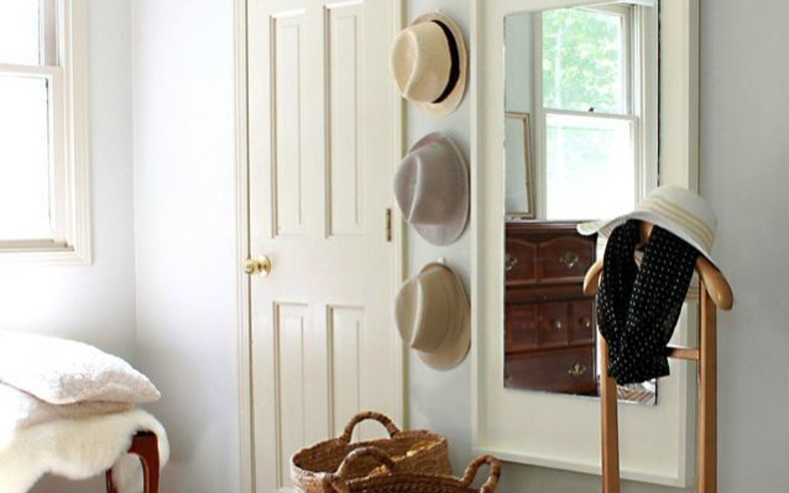 s 11 designer decor looks you can make on the cheap, crafts, home decor, Floating Wall Mirror West Elm