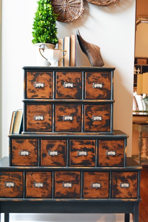 s 30 jaw dropping furniture flips you have to see to believe, painted furniture, CD Cabinet Turned Vintage Apothecary Piece
