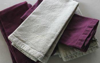 Smooth, Crisp Cloth Napkins (no Iron Needed!)