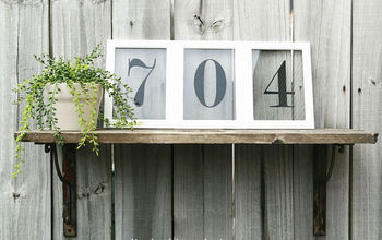 picture frame house numbers, crafts, home decor