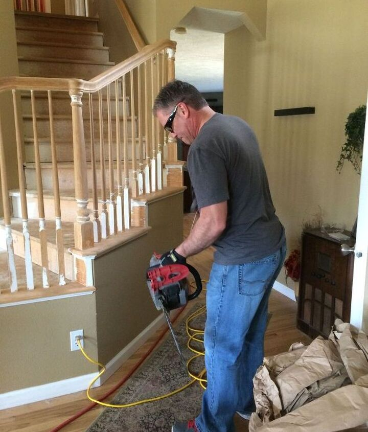 project of the day stair remodel part 2, flooring, hardwood floors, home improvement, stairs