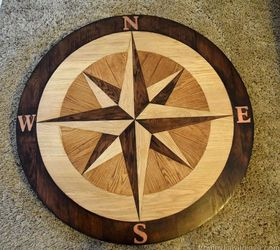 Diy Compass Table Made From Wooden Floor Panels Fabflippincontest, How To,  Painted Furniture,