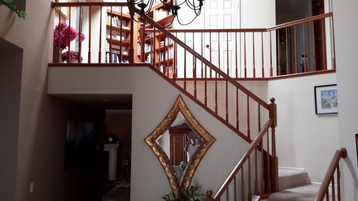 q what is the best way to paint varnished oak stair rail, diy, how to, painting, stairs, woodworking projects
