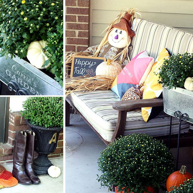 fall porch reveal, outdoor living, porches, seasonal holiday decor
