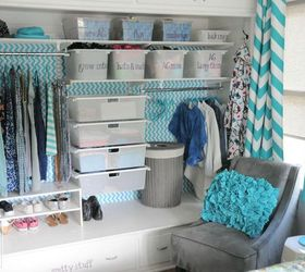 Tween Girl S Closet Update In Turquoise, Bedroom Ideas, Closet, Organizing,  Shelving