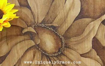Gelato Gel Stain Art - A Fall Patio Decor Piece on Wood