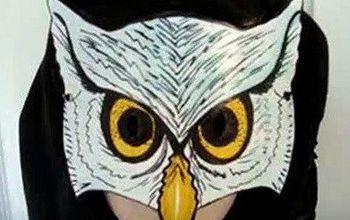 Make an Owl Mask, Halloween, Mardi Gras, Masquerade, Parties, Cosplay