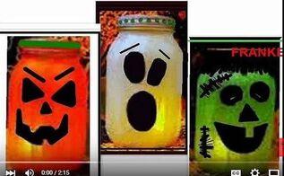 pickle jar mason jar halloween luminaries ghost pumpkin frankenst, crafts, halloween decorations, mason jars, seasonal holiday decor
