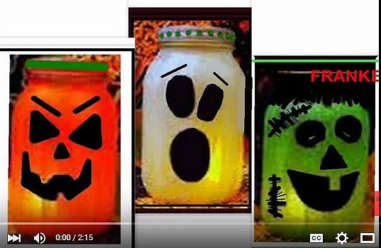 pickle jar mason jar halloween luminaries ghost pumpkin frankenst, crafts, halloween decorations, mason jars, seasonal holiday decor