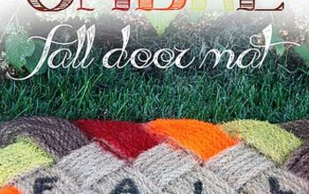 ombre fall door mat, crafts, seasonal holiday decor