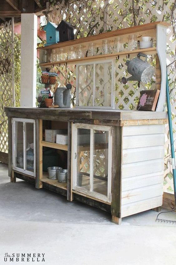 Pleasant How To Build A Reclaimed Wood Potting Bench Hometalk Ibusinesslaw Wood Chair Design Ideas Ibusinesslaworg