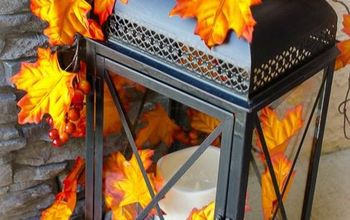 Turn A Basic Lantern Into A Gorgeous Outdoor Fall Décor Accessory