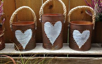 Rusty Tin Can Lanterns