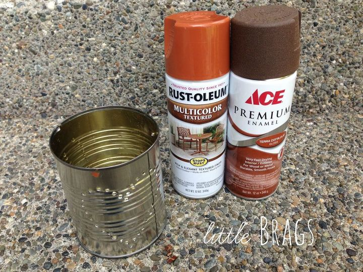 rusty tim can lanterns, container gardening, crafts, gardening