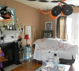 Spooky DIY Halloween Party Decor Using Old Bed Sheets
