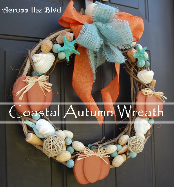 going coastal with fall decor coastal fall wreath, crafts, home decor, seasonal holiday decor, wreaths