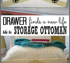 drawer finds a new life as a storage ottoman painted furniture repurposing upcycling & Drawer Finds a New Life as a Storage Ottoman | Hometalk