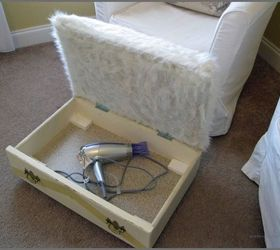 Drawer Finds A New Life As A Storage Ottoman, Painted Furniture,  Repurposing Upcycling,