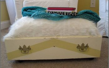 Drawer Finds a New Life as a Storage Ottoman