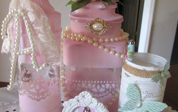 shabby chic glass jar make over, chalk paint, crafts, repurposing upcycling, shabby chic