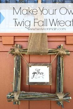 make your own fall twig wreath, crafts, seasonal holiday decor, wreaths