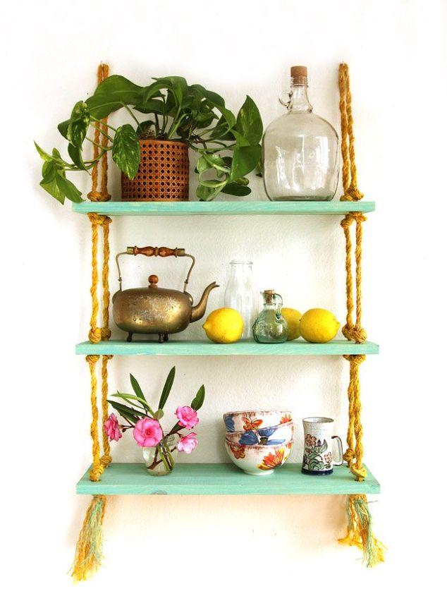 all i need is a drill diy rope shelf, diy, living room ideas, shelving ideas, wall decor